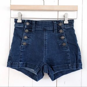 American Eagle High Rise Denim Jean Shorts 00